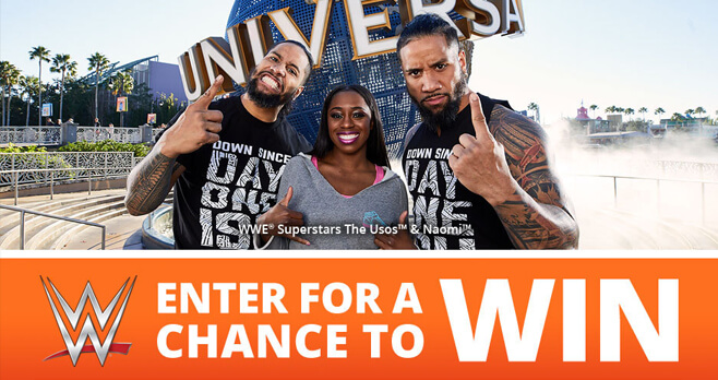 WWE Universal Orlando Rev Up Your Vacation Sweepstakes 2018 (UniversalSweeps-WWE.com)