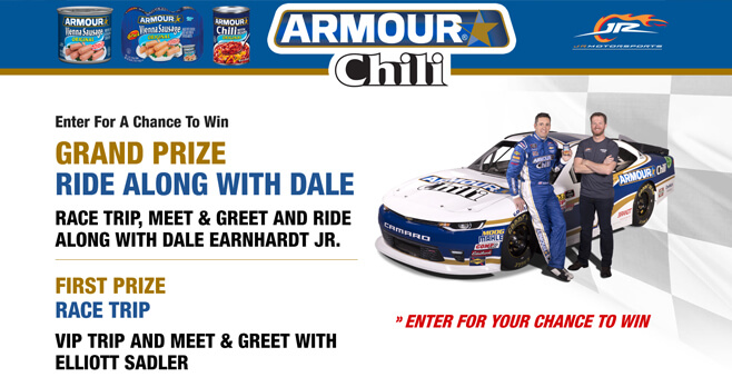 Armour Ride Along With Dale Sweepstakes 2018