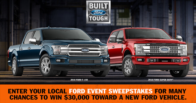 Ford Event Sweepstakes 2018 (FordEventSweepstakes.com)