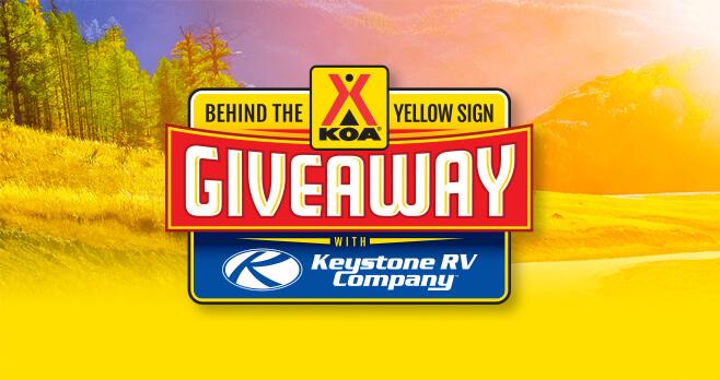 KOA Behind The Sign Giveaway 2018 (BehindTheSignGiveaway.com)