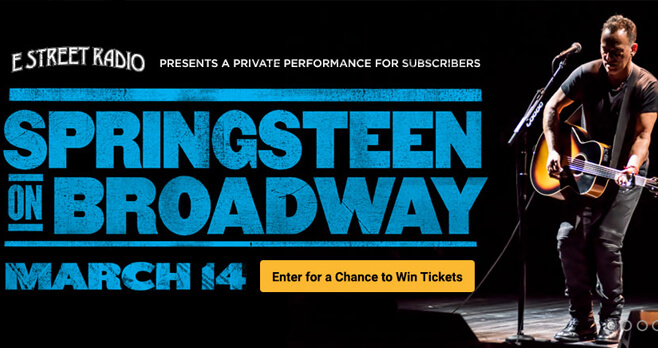SiriusXM Springsteen on Broadway Sweepstakes 2018