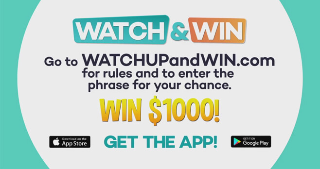 UP TV's Watch Up And Win Giveaway 2018
