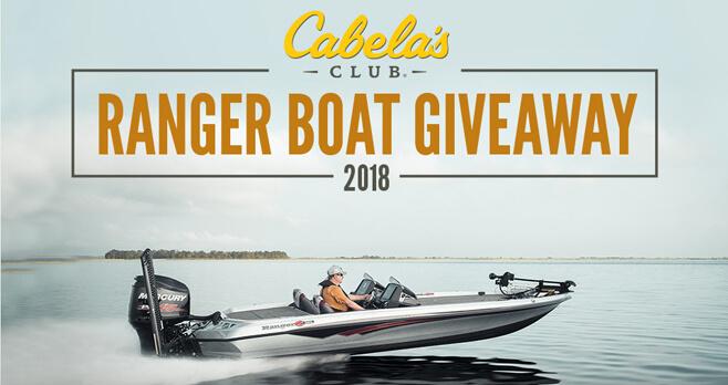 Cabela's Ranger Boat Giveaway 2018