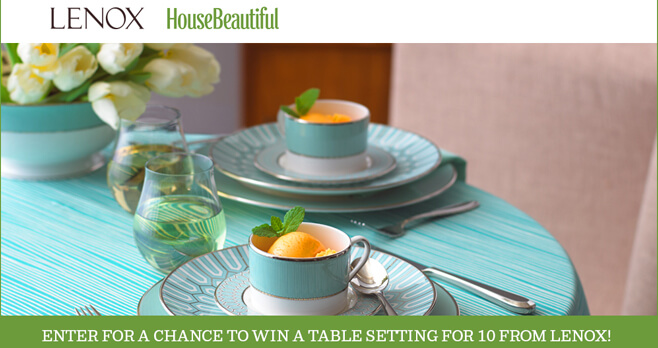 House Beautiful Lenox Sweepstakes