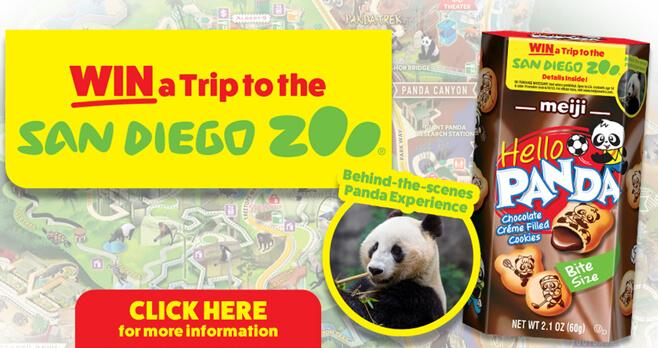 Meiji Hello Panda Sweepstakes 2018
