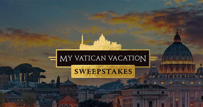 CNN POPE My Vatican Vacation Sweepstakes (MyVaticanVacation.com)
