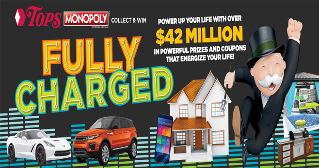 Tops Monopoly 2018 (TopsMarkets.com/Monopoly)