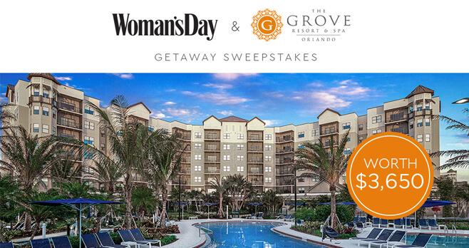 Woman's Day Orlando Getaway Sweepstakes 2018