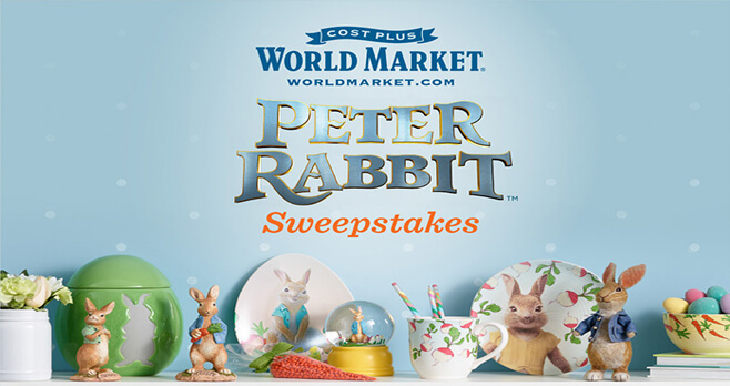 World Market Peter Rabbit Sweepstakes