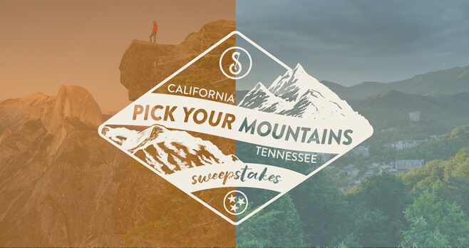 Sugarlands Distilling Company Pick Your Mountains Sweepstakes (Sip2Win.com)