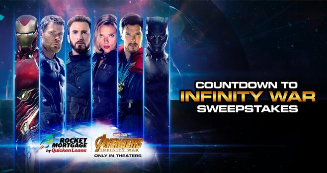 Countdown To Avengers Infinity War Instant Win Game (InfinityInstantWin.com)
