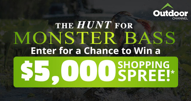Bass Pro Shops Hunt for Monster Bass Sweepstakes (BassPro.com/HuntForMonsterBass)