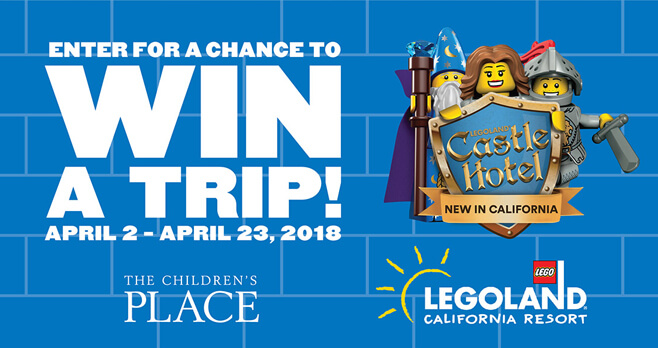 Children's Place LEGOLAND Sweepstakes (ChildrensPlace.com/Legoland)