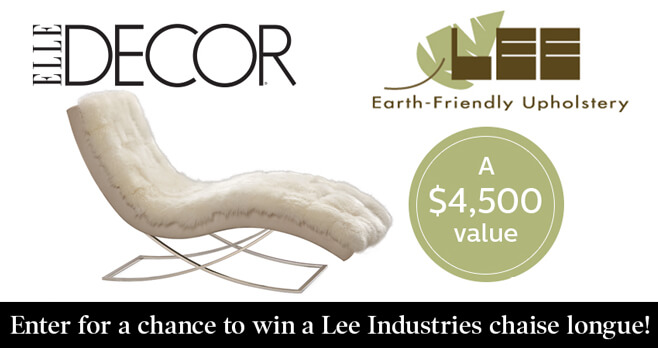 ELLE DECOR Lee Industries Sweepstakes