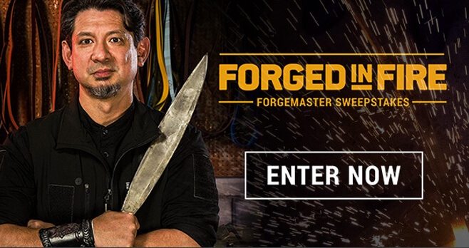 Forged In Fire Sweepstakes (History.com/Enter)