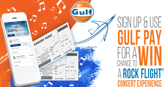 Gulf Oil Concert Getaway Sweepstakes 2018