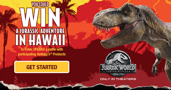 Kellogg's Jurassic World Adventure Sweepstakes (KelloggJurassicAdventure.com)