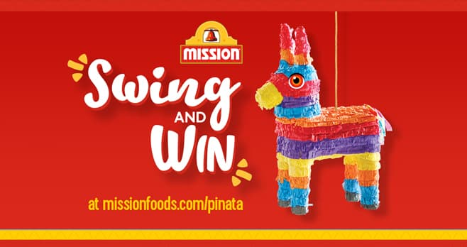 Mission Pinata Instant Win Game (MissionFoods.com/Pinata)