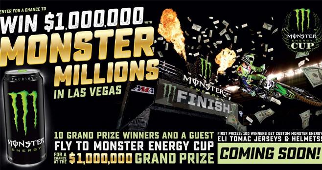 Monster Energy Monster Million Sweepstakes 2018