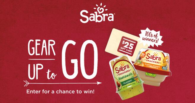 Sabra Gear Up To Go Sweepstakes (GoSabra.com)