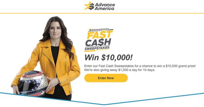 Advance America Fast Cash Sweepstakes 2018 (FastCashSweeps.com)