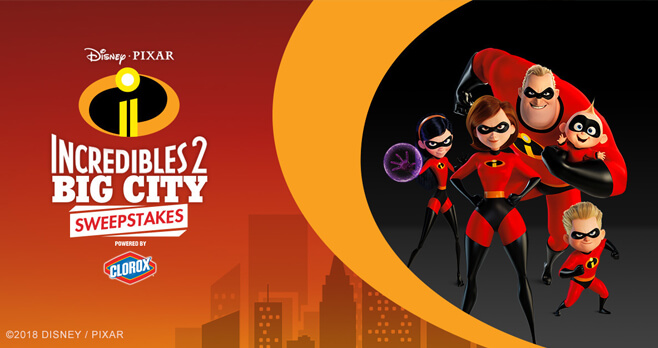 Disney Incredibles 2 Big City Sweepstakes (Disney.com/BigCitySweeps)