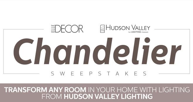 ELLE DECOR Hudson Valley Lighting Sweepstakes