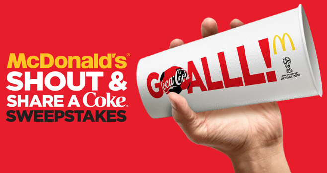 McDonald's Shout And Share a Coke FIFA World Cup Sweepstakes