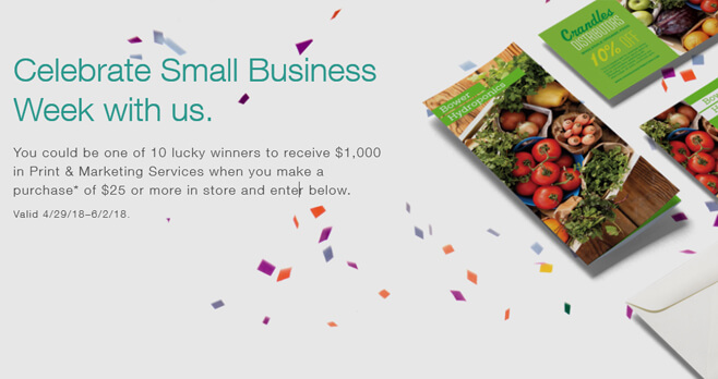 Staples Small Business Week Sweepstakes 2018 (Staples.com/SMBWeek)