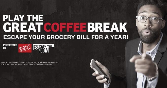 Eight O'Clock Great Coffee Break Sweepstakes