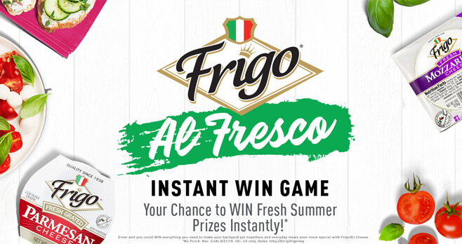 Frigo Al Fresco Instant Win Game and Sweepstakes