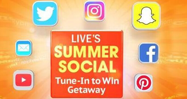 LIVE Kelly and Ryan Summer Social Tune In To Win Getaway Contest 2018