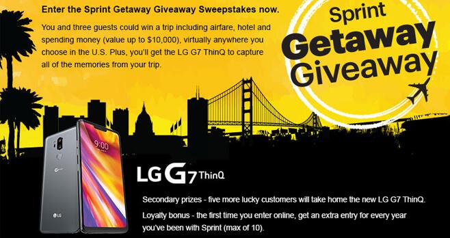 Sprint Getaway Giveaway Sweepstakes