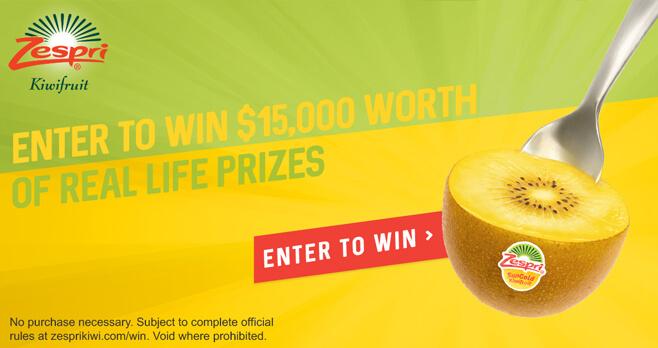 Zespri Kiwi Real Life Giveaway