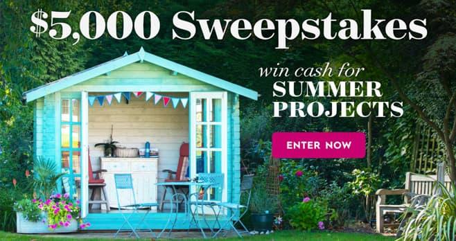 Better Homes and Gardens $5,000 Summer Sweepstakes (BHG.com/5kSummer)