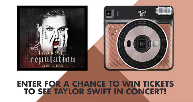 FUJIFILM INSTAX 2018 Taylor Swift Concert Tickets Sweepstakes