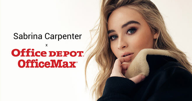 Office Depot Sabrina Carpenter Sweepstakes