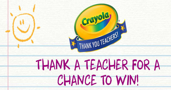 Crayola Thank a Teacher Sweepstakes