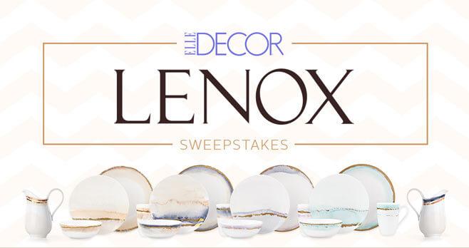 ELLE DECOR Lenox Sweepstakes