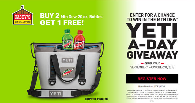 Casey's Yeti-A-Day Giveaway