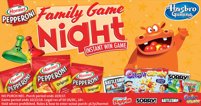 Hasbro Family Game Night Instant Win Game