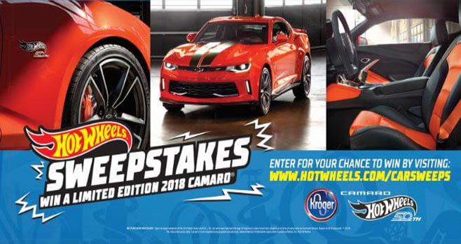 hot wheels camaro sweepstakes
