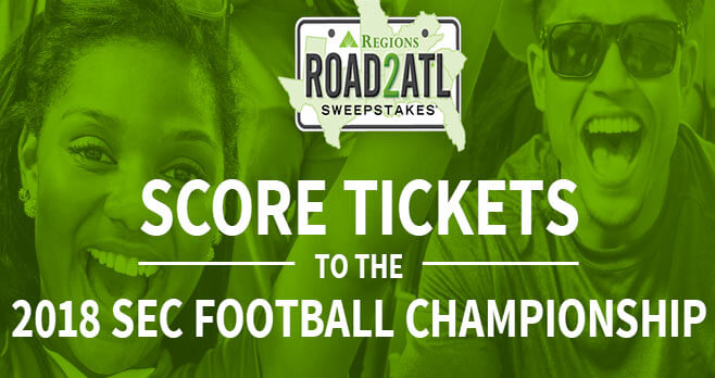 Regions Bank Road2ATL Sweepstakes