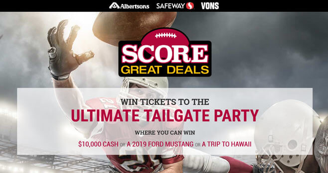 Safeway Score Great Deals Sweepstakes
