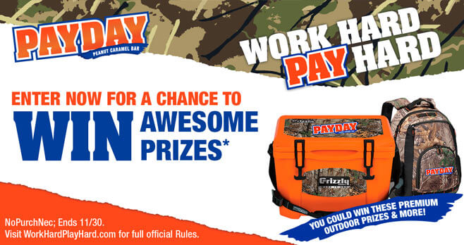 Hershey PayDay Work Hard Win Hard Sweepstakes