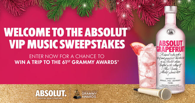 Absolut VIP Music Sweepstakes