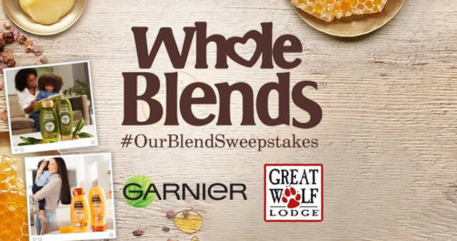 Garnier Whole Blends Our Blend Sweepstakes
