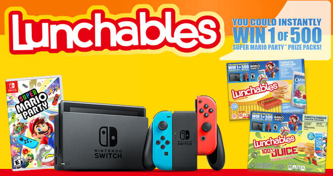 LUNCHABLES Nintendo Switch Mario Party Sweepstakes