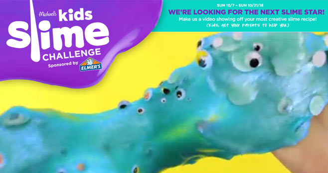 Michaels Kids 15 Days of Slime Challenge Contest