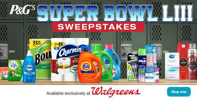 P&G Super Bowl LIII Sweepstakes (PGSweepstakesTo53.com)